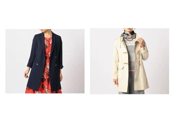 【SCAPA/スキャパ】のトリアセドライツイルコート&ハイバリーコート 【アウター】おすすめ!人気、トレンド・レディースファッションの通販  おすすめファッション通販アイテム インテリア・キッズ・メンズ・レディースファッション・服の通販 founy(ファニー) https://founy.com/ ファッション Fashion レディースファッション WOMEN アウター Coat Outerwear コート Coats チェスターコート Top Coat ダッフルコート Duffle Coats クラシック シェイプ ダブル チェスターコート マニッシュ モダン ダッフルコート フラップ フロント ループ |ID:crp329100000025929