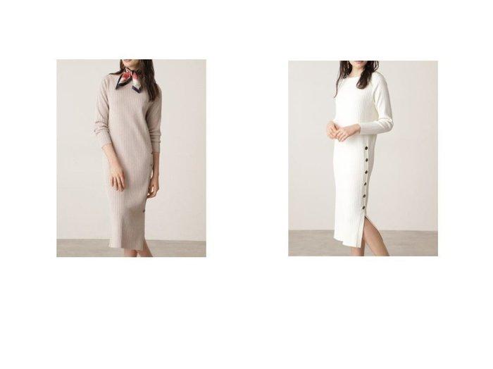 【Pinky&Dianne/ピンキーアンドダイアン】のサイドスリットRIBワンピース 【ワンピース・ドレス】おすすめ!人気、トレンド・レディースファッションの通販  おすすめファッション通販アイテム レディースファッション・服の通販 founy(ファニー) ファッション Fashion レディースファッション WOMEN ワンピース Dress ニットワンピース Knit Dresses スリット ワイド |ID:crp329100000025955