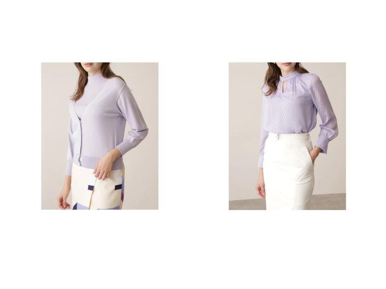 【Pinky&Dianne/ピンキーアンドダイアン】のVカーデレイヤードツインニット&カットジャガードスタンドカラーブラウス おすすめ!人気、トレンド・レディースファッションの通販  おすすめで人気の流行・トレンド、ファッションの通販商品 メンズファッション・キッズファッション・インテリア・家具・レディースファッション・服の通販 founy(ファニー) https://founy.com/ ファッション Fashion レディースファッション WOMEN トップス・カットソー Tops/Tshirt ニット Knit Tops カーディガン Cardigans シャツ/ブラウス Shirts/Blouses インナー カーディガン シンプル ストレッチ スリム エアリー ギャザー シフォン ジャカード スタンド |ID:crp329100000026024