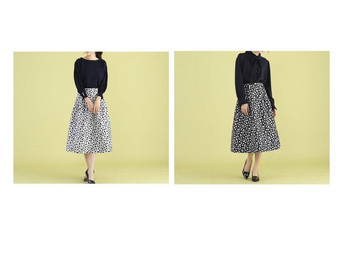 【Rose Tiara/ローズティアラ】のチェリージャガードフレアスカート 【スカート】おすすめ!人気トレンド・レディースファッションの通販  おすすめファッション通販アイテム レディースファッション・服の通販 founy(ファニー)  ファッション Fashion レディースファッション WOMEN スカート Skirt Aライン/フレアスカート Flared A-Line Skirts フェミニン フレア モノトーン 日本製 Made in Japan |ID:crp329100000026200