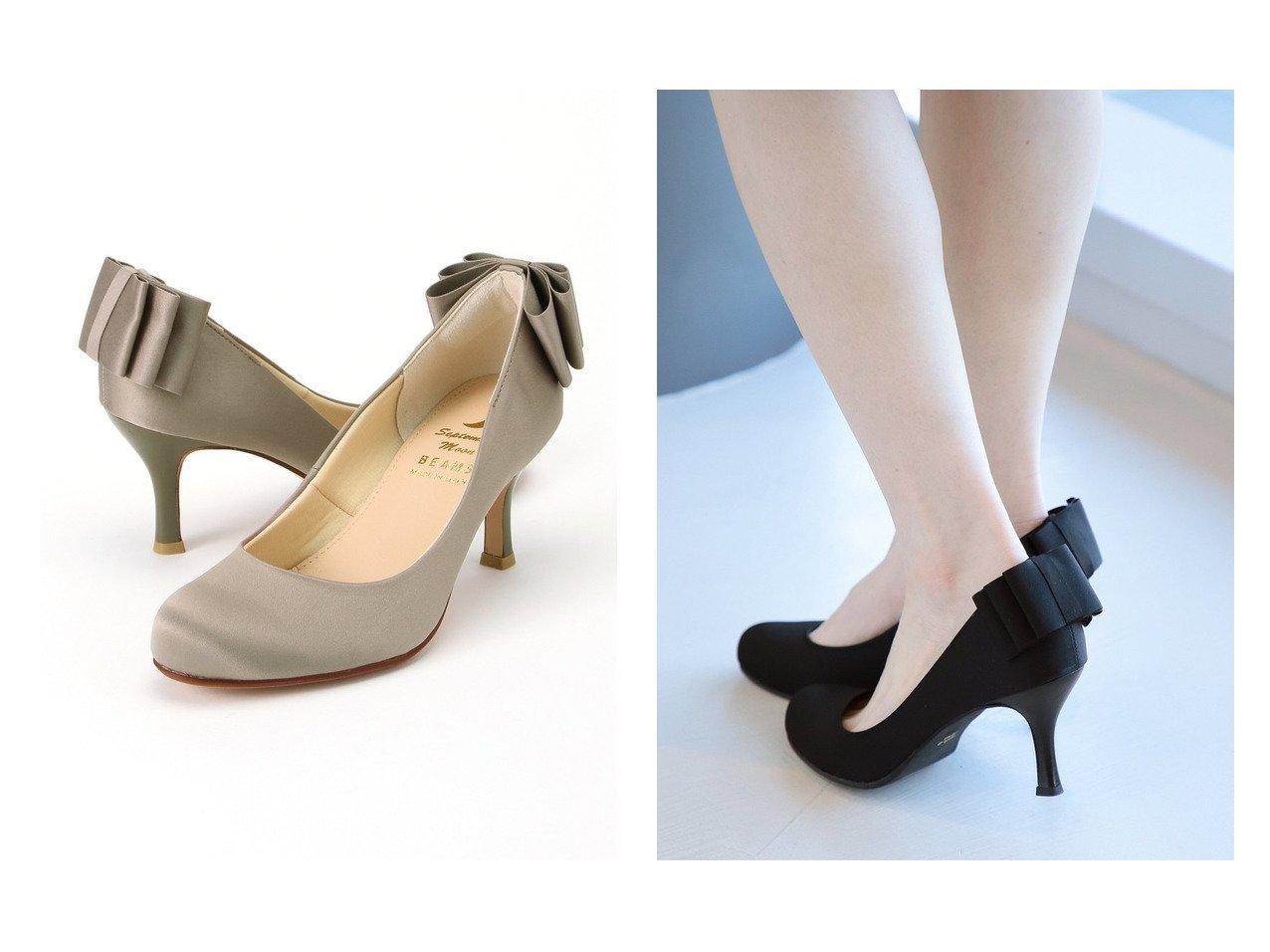 【Ray BEAMS/レイ ビームス】のバックリボン パンプス 【シューズ・靴】おすすめ!人気、トレンド・レディースファッションの通販  おすすめで人気の流行・トレンド、ファッションの通販商品 メンズファッション・キッズファッション・インテリア・家具・レディースファッション・服の通販 founy(ファニー) https://founy.com/ ファッション Fashion レディースファッション WOMEN エレガント サテン シューズ バランス パーティ モチーフ リボン 人気 |ID:crp329100000026276