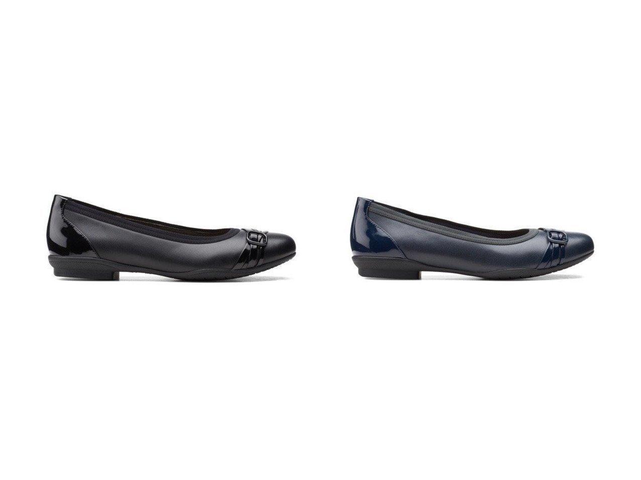 【Foot Community/フット コミュニティ】の【クラークス ウィメンズ】バレエシューズ 【シューズ・靴】おすすめ!人気、トレンド・レディースファッションの通販  おすすめで人気の流行・トレンド、ファッションの通販商品 メンズファッション・キッズファッション・インテリア・家具・レディースファッション・服の通販 founy(ファニー) https://founy.com/ ファッション Fashion レディースファッション WOMEN 送料無料 Free Shipping エナメル クッション コンビ シューズ ドレス バレエ ラバー |ID:crp329100000026281