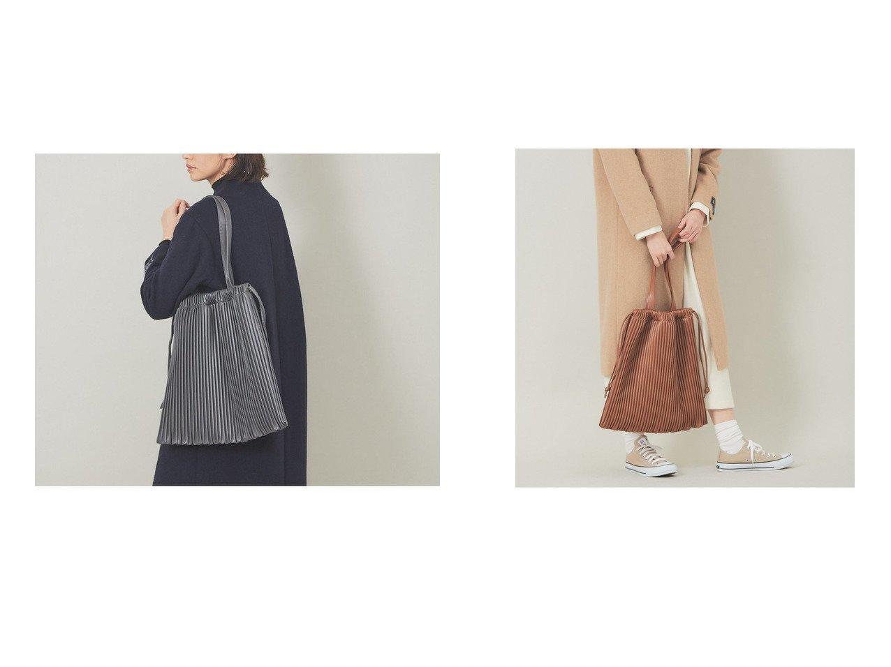 【collex/コレックス】のフェイクレザープリーツ巾着バッグ 【バッグ・鞄】おすすめ!人気、トレンド・レディースファッションの通販  | レディースファッション・服の通販 founy(ファニー)