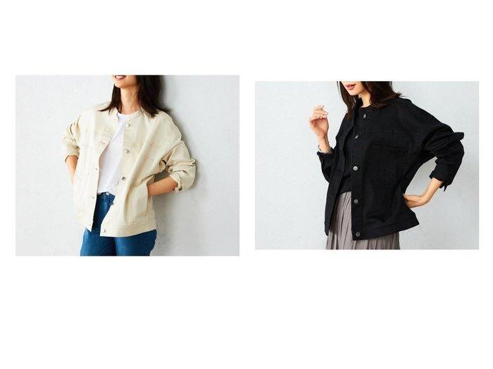 【COMME CA ISM/コムサイズム】のコットン ビッグシルエット ノーカラーブルゾン 【アウター】おすすめ!人気、トレンド・レディースファッションの通販  おすすめファッション通販アイテム インテリア・キッズ・メンズ・レディースファッション・服の通販 founy(ファニー) https://founy.com/ ファッション Fashion レディースファッション WOMEN アウター Coat Outerwear コート Coats ジャケット Jackets ブルゾン Blouson/Jackets ジャケット ツイル ビッグ ブルゾン ベーシック  ID:crp329100000026448