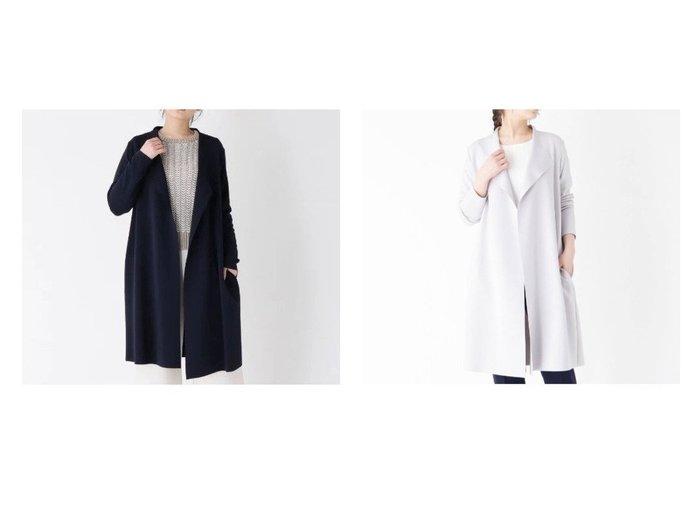 【modify/モディファイ】のビッグカラーロングジャケット 【アウター】おすすめ!人気、トレンド・レディースファッションの通販  おすすめファッション通販アイテム レディースファッション・服の通販 founy(ファニー) ファッション Fashion レディースファッション WOMEN アウター Coat Outerwear コート Coats ジャケット Jackets ジャケット ジャージー ロング |ID:crp329100000026450