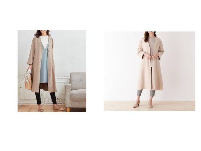 【SHOO LA RUE Mrs/シューラルー ミセス】のAラインカラーレスガウンコート 【アウター】おすすめ!人気、トレンド・レディースファッションの通販  おすすめファッション通販アイテム インテリア・キッズ・メンズ・レディースファッション・服の通販 founy(ファニー) https://founy.com/ ファッション Fashion レディースファッション WOMEN アウター Coat Outerwear コート Coats カーディガン ガウン ポケット  ID:crp329100000026451