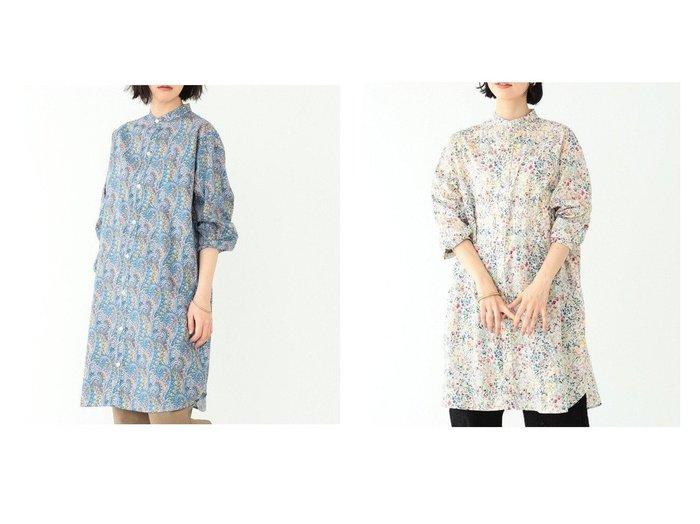 【BEAMS BOY/ビームス ボーイ】のリバティ スタンドカラー ロングスリーブ ワンピース 【ワンピース・ドレス】おすすめ!人気、トレンド・レディースファッションの通販  おすすめファッション通販アイテム レディースファッション・服の通販 founy(ファニー) ファッション Fashion レディースファッション WOMEN ワンピース Dress シャツワンピース Shirt Dresses NEW・新作・新着・新入荷 New Arrivals おすすめ Recommend スタンド スリーブ フォルム ロング  ID:crp329100000026510