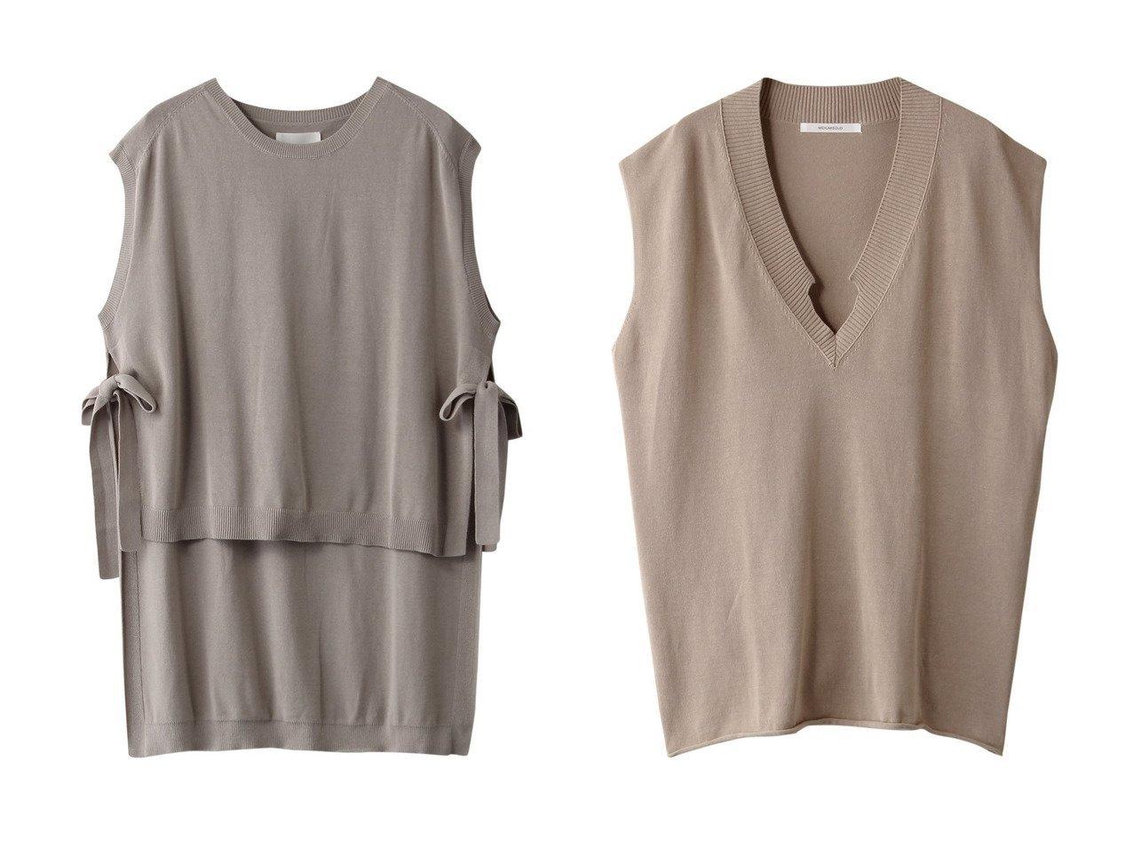 【MIDIUMISOLID/ミディウミソリッド】のdeformed V neck vest&side slit wide vest 【トップス・カットソー】おすすめ!人気、トレンド・レディースファッションの通販  おすすめで人気の流行・トレンド、ファッションの通販商品 メンズファッション・キッズファッション・インテリア・家具・レディースファッション・服の通販 founy(ファニー) https://founy.com/ ファッション Fashion レディースファッション WOMEN トップス・カットソー Tops/Tshirt ニット Knit Tops ベスト/ジレ Gilets/Vests プルオーバー Pullover 2021年 2021 2021春夏・S/S SS/Spring/Summer/2021 S/S・春夏 SS・Spring/Summer スリット ベスト リボン 春 Spring |ID:crp329100000026526