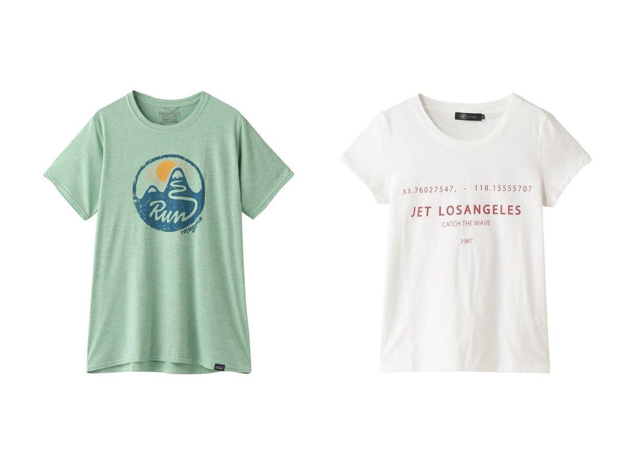 【Patagonia/パタゴニア】のW s キャップクールデイリーグラフィックTシャツ&【JET/ジェット】の【JET LOSANGELES】【ウォッシャブル】コンパクトロゴプリントTシャツ 【トップス・カットソー】おすすめ!人気、トレンド・レディースファッションの通販  おすすめで人気の流行・トレンド、ファッションの通販商品 メンズファッション・キッズファッション・インテリア・家具・レディースファッション・服の通販 founy(ファニー) https://founy.com/ ファッション Fashion レディースファッション WOMEN トップス・カットソー Tops/Tshirt シャツ/ブラウス Shirts/Blouses ロング / Tシャツ T-Shirts スポーツウェア Sportswear スポーツ トップス Tops カットソー Cut and Sewn 2021年 2021 2021春夏・S/S SS/Spring/Summer/2021 S/S・春夏 SS・Spring/Summer グラフィック スポーツ 抗菌 春 Spring |ID:crp329100000026540
