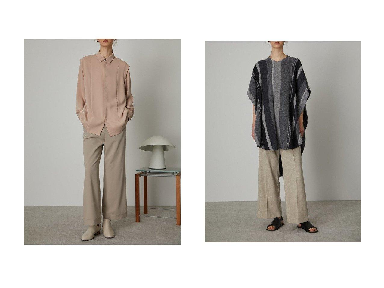 【RIM.ARK/リムアーク】のトップス&シャツ 【トップス・カットソー】おすすめ!人気、トレンド・レディースファッションの通販  おすすめで人気の流行・トレンド、ファッションの通販商品 メンズファッション・キッズファッション・インテリア・家具・レディースファッション・服の通販 founy(ファニー) https://founy.com/ ファッション Fashion レディースファッション WOMEN トップス・カットソー Tops/Tshirt シャツ/ブラウス Shirts/Blouses ショルダー スリーブ ドレープ マニッシュ ロング 春 Spring アンゴラ インナー ショート ストライプ スペシャル ブラウジング ボーダー |ID:crp329100000026543