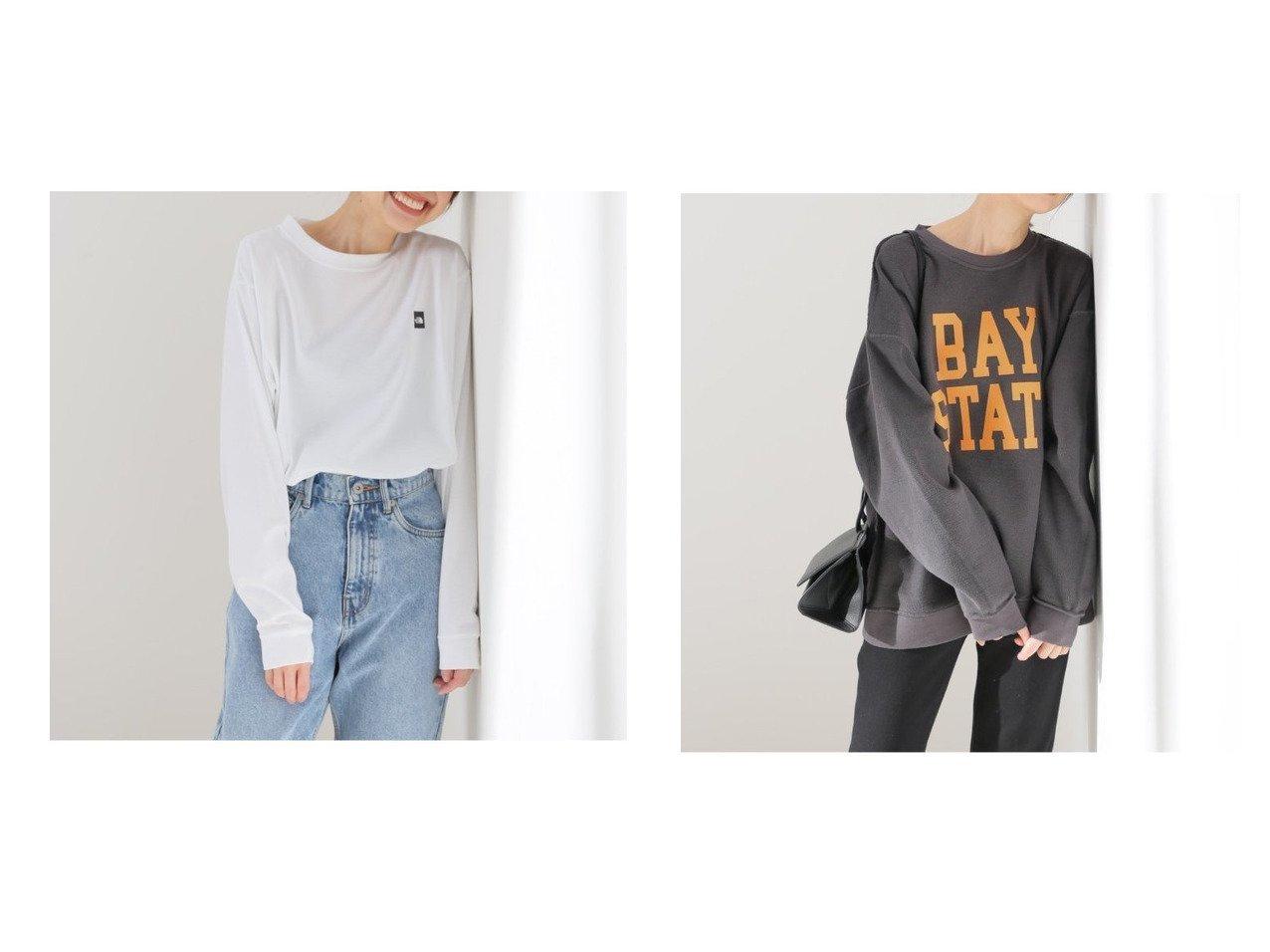【SLOBE IENA/スローブ イエナ】の【ノースフェイス】S Small Box Logo Tシャツ&【スクリーンスターズ】2WAY スエット 【トップス・カットソー】おすすめ!人気、トレンド・レディースファッションの通販   おすすめで人気の流行・トレンド、ファッションの通販商品 メンズファッション・キッズファッション・インテリア・家具・レディースファッション・服の通販 founy(ファニー) https://founy.com/ ファッション Fashion レディースファッション WOMEN トップス・カットソー Tops/Tshirt シャツ/ブラウス Shirts/Blouses ロング / Tシャツ T-Shirts カットソー Cut and Sewn NEW・新作・新着・新入荷 New Arrivals 2021年 2021 2021春夏・S/S SS/Spring/Summer/2021 S/S・春夏 SS・Spring/Summer アウトドア フェイス プリント ヴィンテージ |ID:crp329100000026570