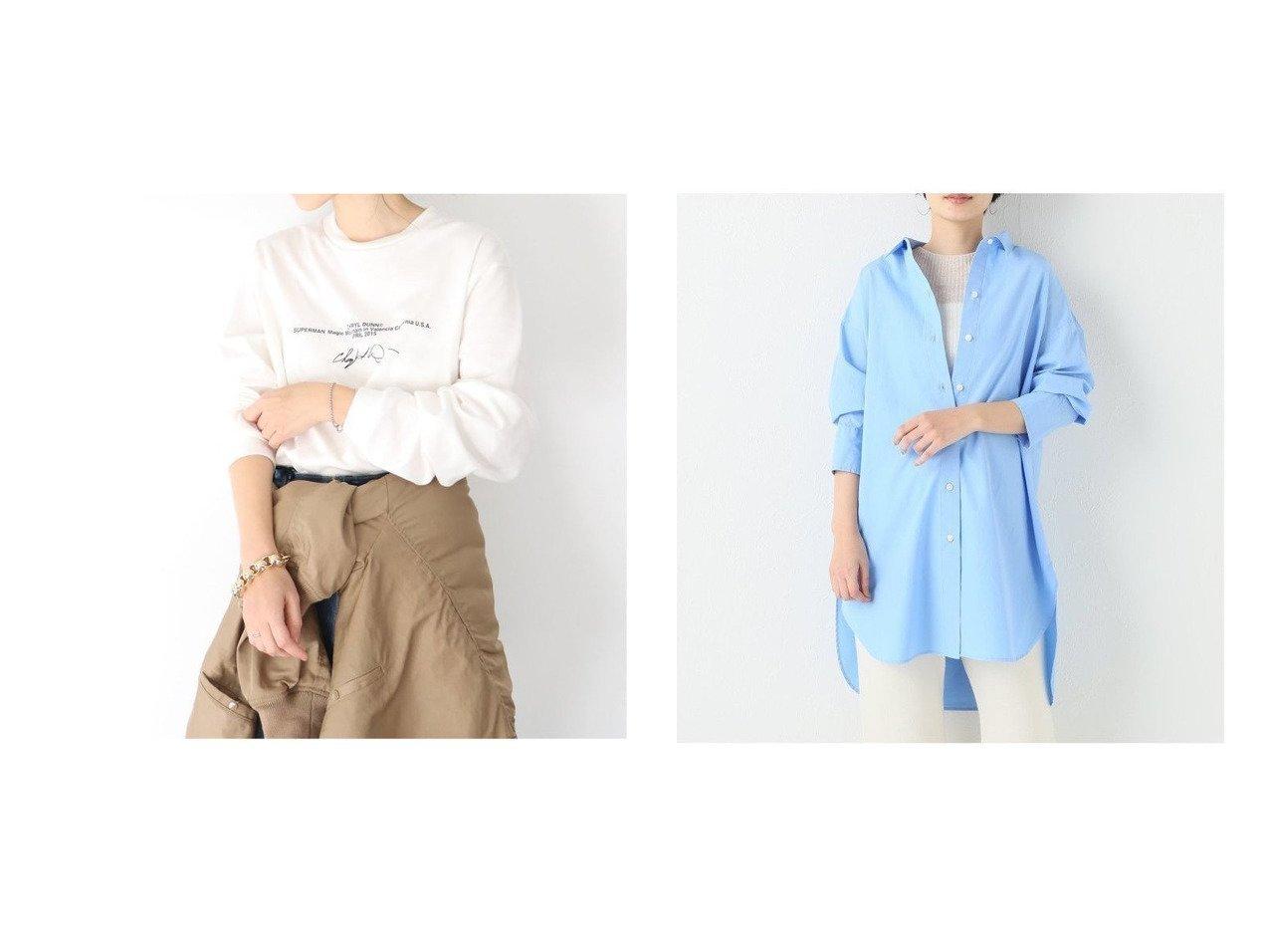 【Plage/プラージュ】のNuance シャツ&【ジェーンスミス】SL Tシャツ 【トップス・カットソー】おすすめ!人気、トレンド・レディースファッションの通販   おすすめで人気の流行・トレンド、ファッションの通販商品 メンズファッション・キッズファッション・インテリア・家具・レディースファッション・服の通販 founy(ファニー) https://founy.com/ ファッション Fashion レディースファッション WOMEN トップス・カットソー Tops/Tshirt シャツ/ブラウス Shirts/Blouses ロング / Tシャツ T-Shirts カットソー Cut and Sewn 2021年 2021 2021春夏・S/S SS/Spring/Summer/2021 A/W・秋冬 AW・Autumn/Winter・FW・Fall-Winter S/S・春夏 SS・Spring/Summer カットソー コレクション シンプル スタイリッシュ スタンダード スリット リラックス 再入荷 Restock/Back in Stock/Re Arrival 春 Spring 2020年 2020 2020-2021秋冬・A/W AW・Autumn/Winter・FW・Fall-Winter/2020-2021 |ID:crp329100000026584