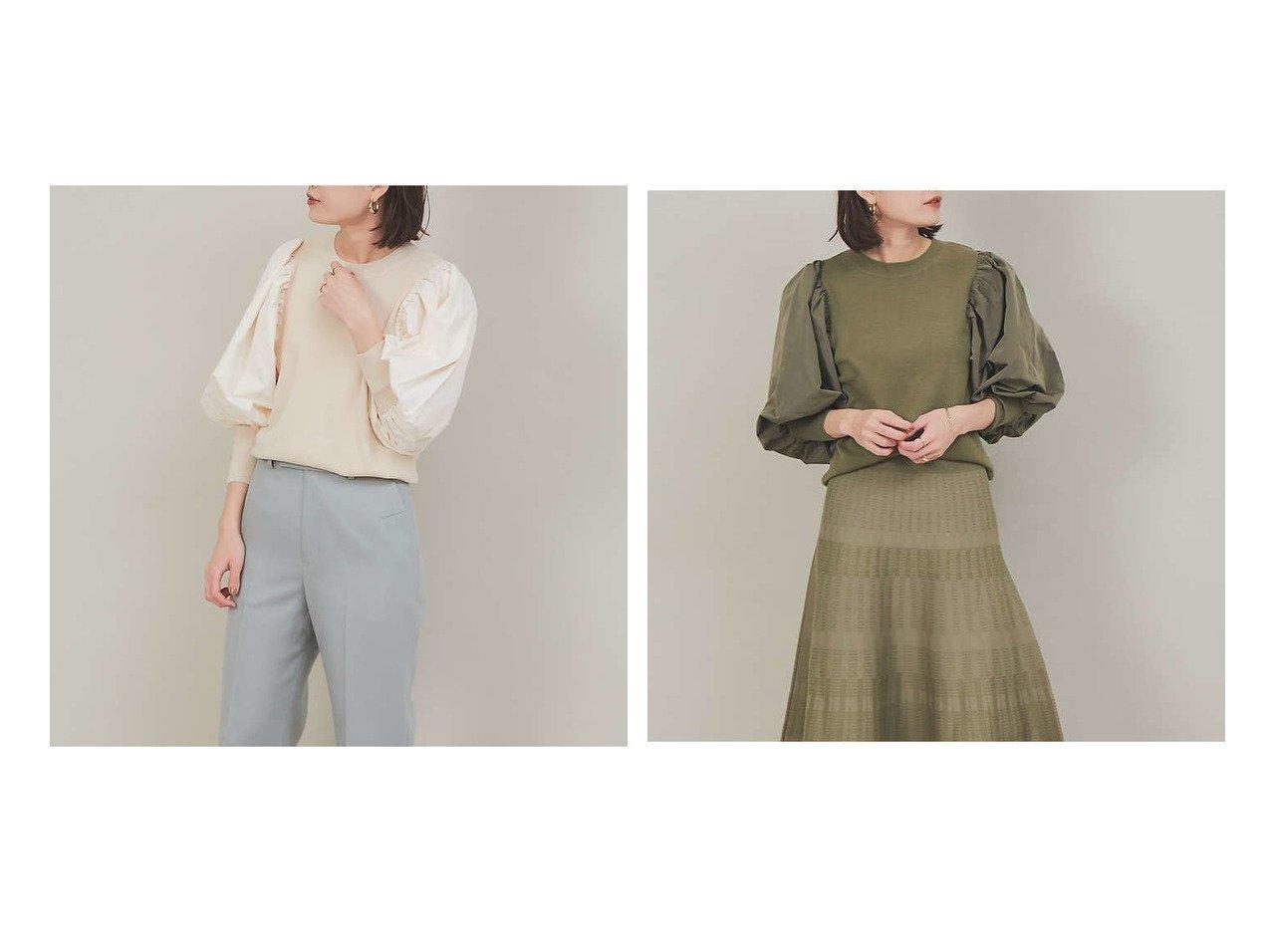 【Rouge vif la cle/ルージュヴィフラクレ】のファブリックコンビニット 【トップス・カットソー】おすすめ!人気、トレンド・レディースファッションの通販   おすすめで人気の流行・トレンド、ファッションの通販商品 メンズファッション・キッズファッション・インテリア・家具・レディースファッション・服の通販 founy(ファニー) https://founy.com/ ファッション Fashion レディースファッション WOMEN トップス・カットソー Tops/Tshirt ニット Knit Tops おすすめ Recommend セットアップ セーター 再入荷 Restock/Back in Stock/Re Arrival |ID:crp329100000026616