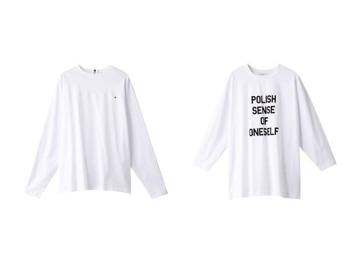 【Ezick/エジック】のバックジップキリカエT&POLISHロンT 【トップス・カットソー】おすすめ!人気、トレンド・レディースファッションの通販   おすすめファッション通販アイテム レディースファッション・服の通販 founy(ファニー) ファッション Fashion レディースファッション WOMEN トップス・カットソー Tops/Tshirt シャツ/ブラウス Shirts/Blouses ロング / Tシャツ T-Shirts カットソー Cut and Sewn 2021年 2021 2021春夏・S/S SS/Spring/Summer/2021 S/S・春夏 SS・Spring/Summer シンプル ジップ スリーブ チャーム ロング 春 Spring 長袖 |ID:crp329100000026650