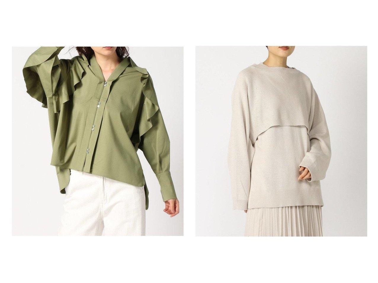 【LOWRYS FARM/ローリーズファーム】の7Gレイヤード2PLS*&【JEANASiS/ジーナシス】のライトポンチフリルBL 【トップス・カットソー】おすすめ!人気、トレンド・レディースファッションの通販 | レディースファッション・服の通販 founy(ファニー)