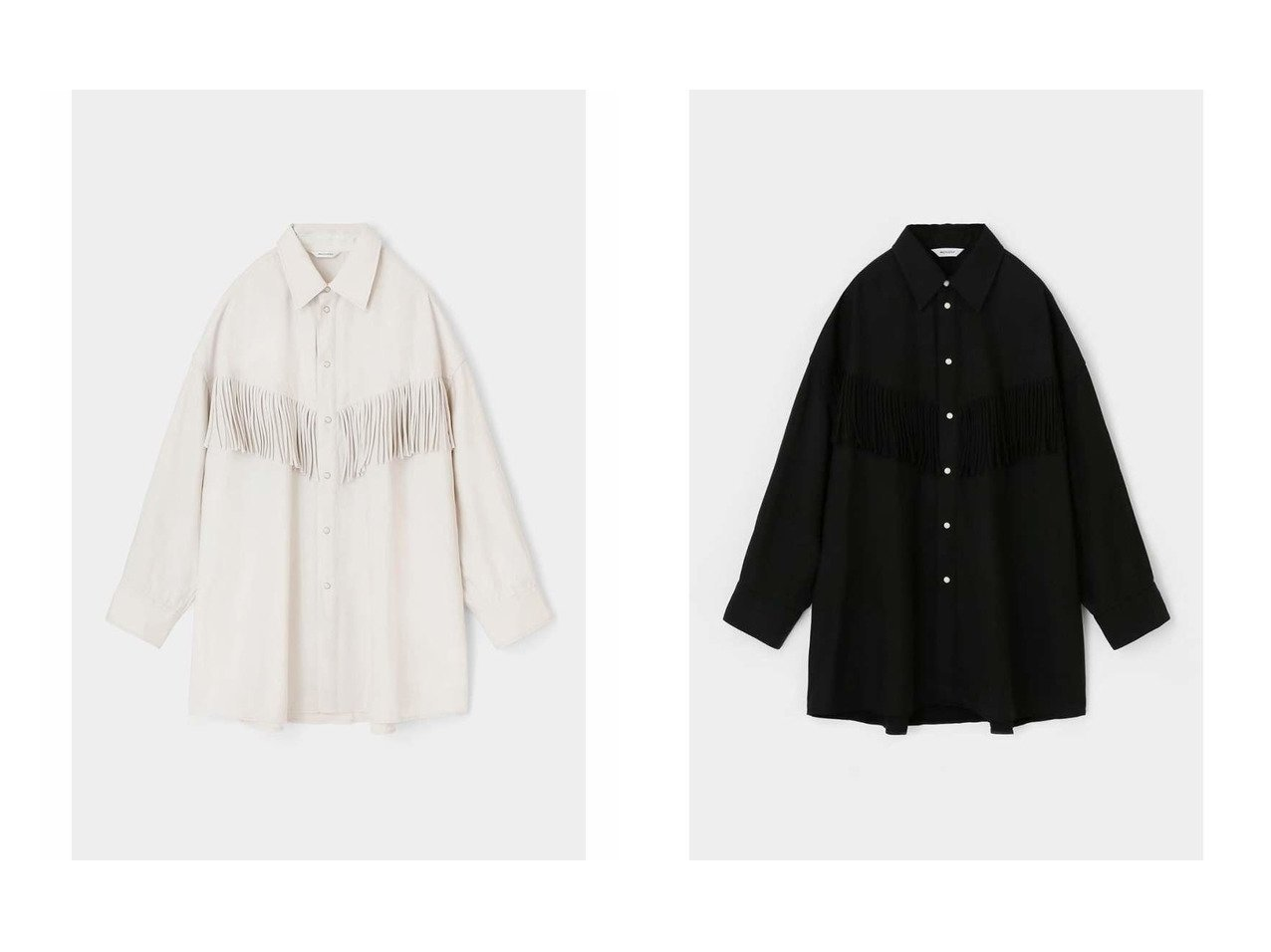【moussy/マウジー】のFRINGE OVER シャツ 【トップス・カットソー】おすすめ!人気、トレンド・レディースファッションの通販 | レディースファッション・服の通販 founy(ファニー)