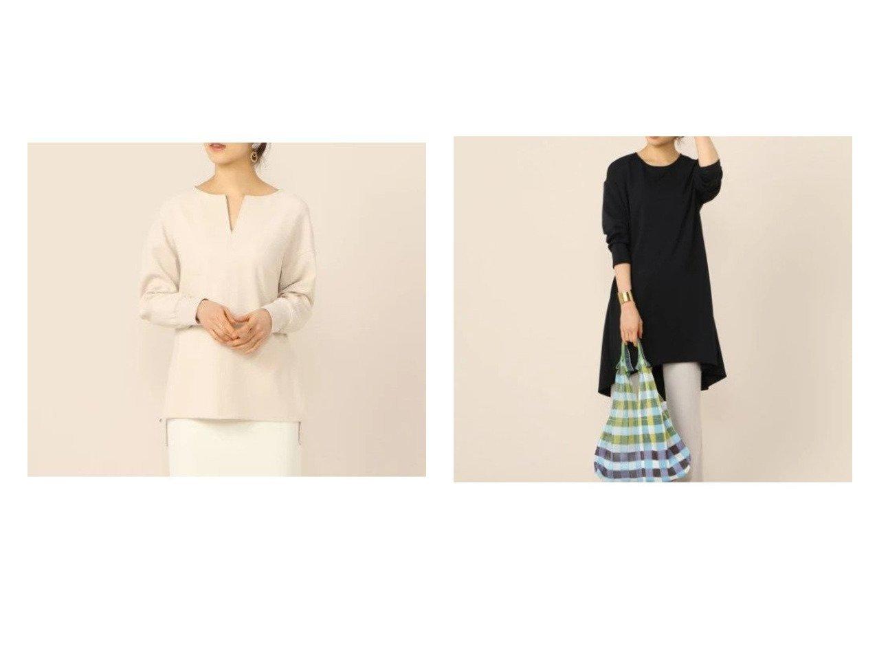 【NOLLEY'S sophi/ノーリーズソフィー】のダブルアムンゼンプルオーバーブラウス&【NOLLEY'S/ノーリーズ】のダンボールチュニック 【トップス・カットソー】おすすめ!人気、トレンド・レディースファッションの通販 | レディースファッション・服の通販 founy(ファニー)