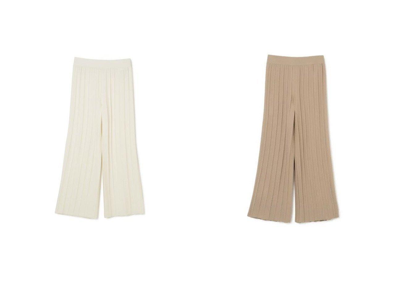 【theory/セオリー】のEMPIRE WOOL WIDE RIB PANT 【パンツ】おすすめ!人気、トレンド・レディースファッションの通販     レディースファッション・服の通販 founy(ファニー)