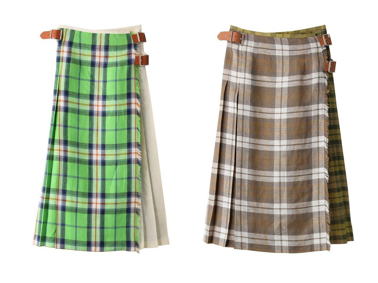 【heliopole/エリオポール】の【ONEIL OF DUBLIN】ロング丈スカート&【ONEIL OF DUBLIN】ひざ丈スカート 【スカート】おすすめ!人気、トレンド・レディースファッションの通販   おすすめで人気の流行・トレンド、ファッションの通販商品 メンズファッション・キッズファッション・インテリア・家具・レディースファッション・服の通販 founy(ファニー) https://founy.com/ ファッション Fashion レディースファッション WOMEN スカート Skirt ロングスカート Long Skirt 2021年 2021 2021春夏・S/S SS/Spring/Summer/2021 S/S・春夏 SS・Spring/Summer おすすめ Recommend クラシカル チェック フロント プリーツ ロング 今季 春 Spring |ID:crp329100000026851