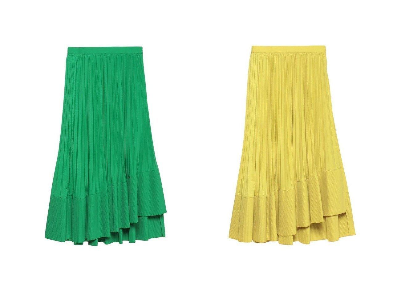 【allureville/アルアバイル】の【LOULOU WILLOUGHBY】ティアードプリーツスカート 【スカート】おすすめ!人気、トレンド・レディースファッションの通販   おすすめで人気の流行・トレンド、ファッションの通販商品 メンズファッション・キッズファッション・インテリア・家具・レディースファッション・服の通販 founy(ファニー) https://founy.com/ ファッション Fashion レディースファッション WOMEN スカート Skirt プリーツスカート Pleated Skirts アシメトリー スニーカー ティアード バランス プリーツ マキシ |ID:crp329100000026854