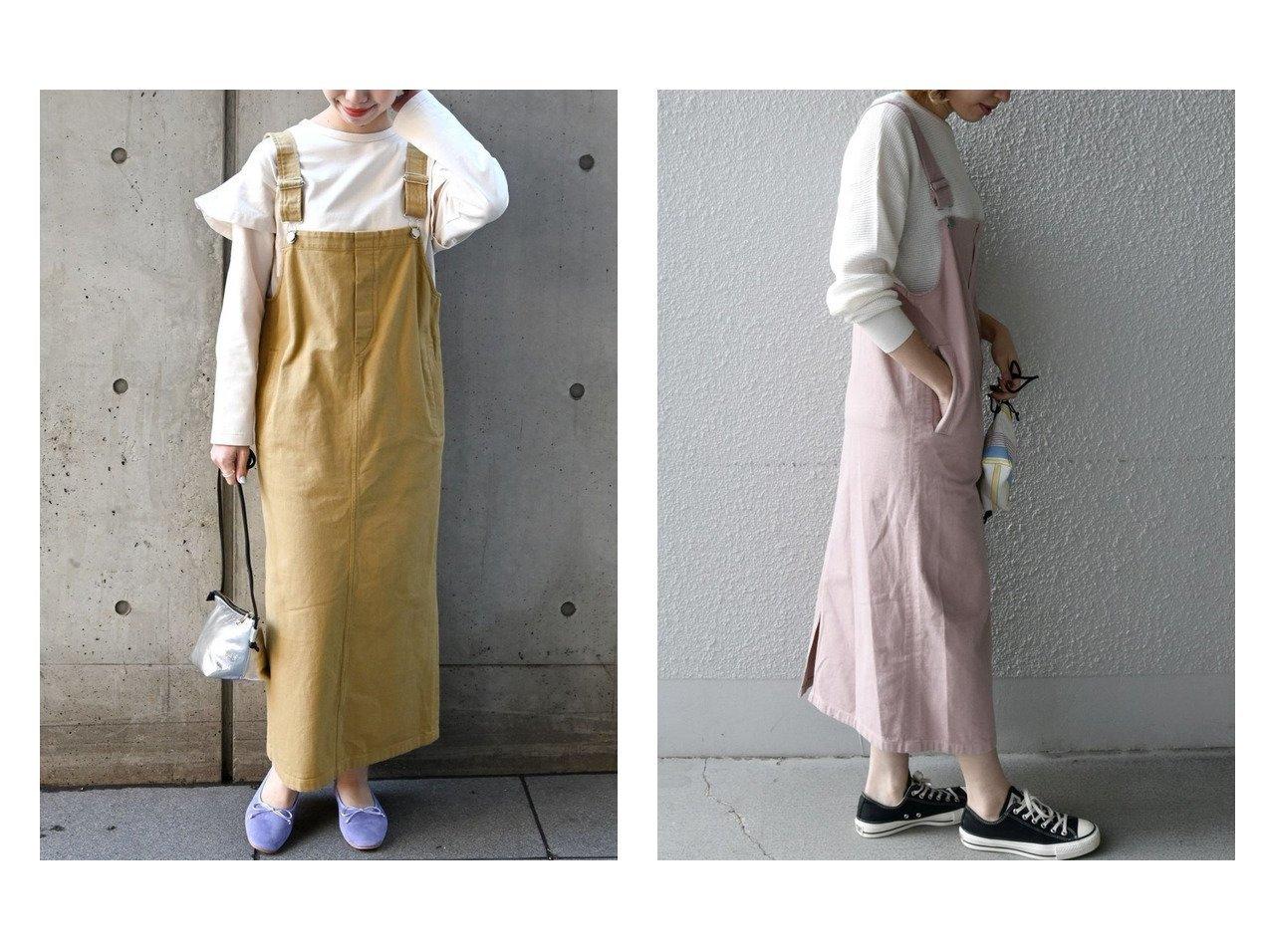 【SHIPS any/シップス エニィ】のSHIPS any FOOD TEXTILE ジャンパースカート 【スカート】おすすめ!人気、トレンド・レディースファッションの通販   | レディースファッション・服の通販 founy(ファニー)
