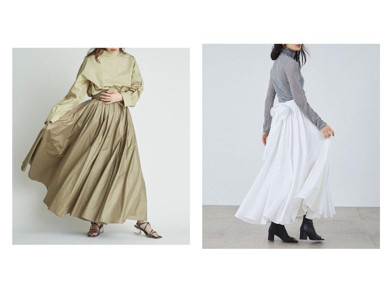 【FRAY I.D/フレイ アイディー】のチンツギャザーフレアスカート 【スカート】おすすめ!人気、トレンド・レディースファッションの通販   | レディースファッション・服の通販 founy(ファニー)