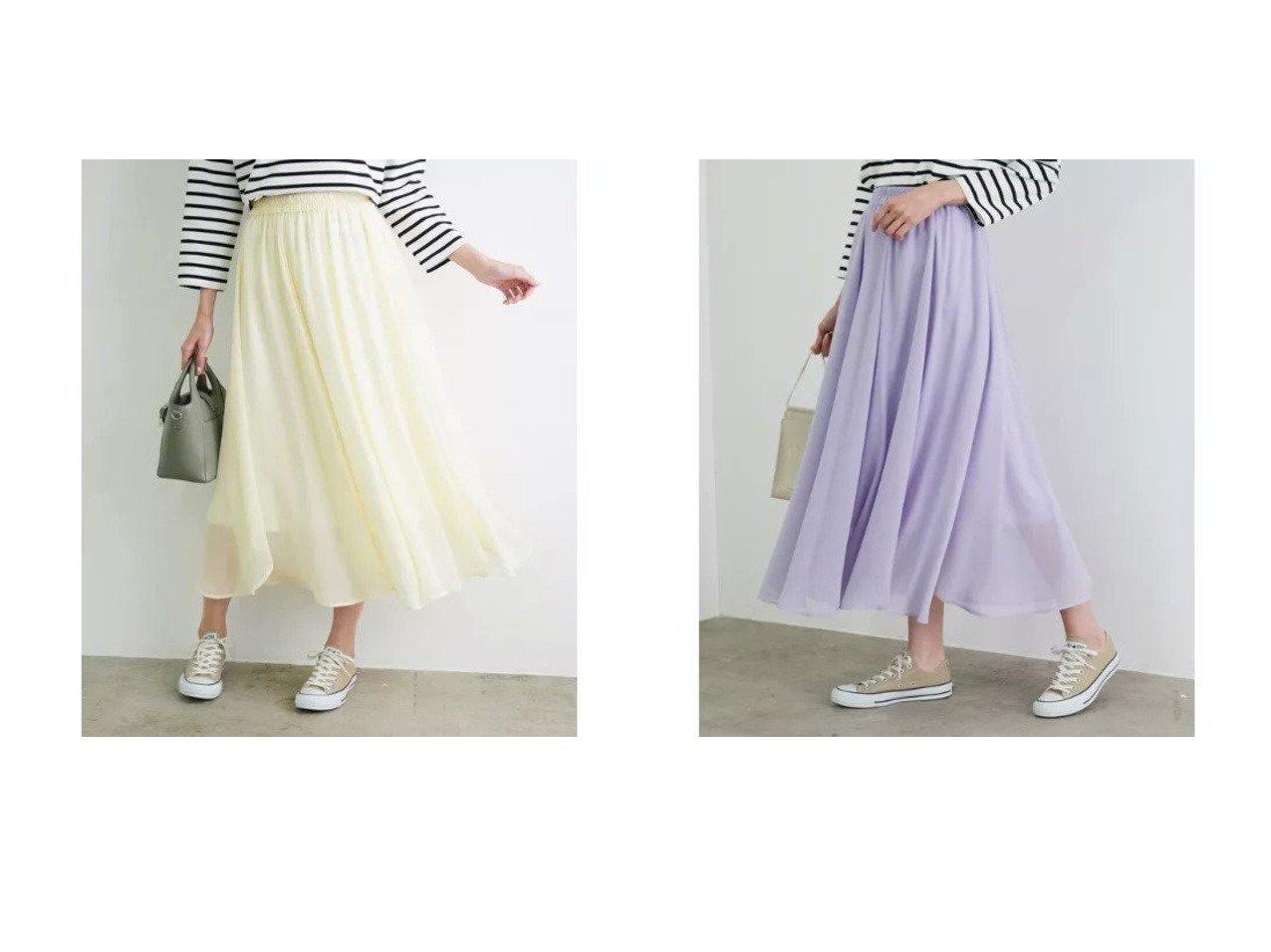 【ROPE' PICNIC/ロペピクニック】のシアーヘムスカート 【スカート】おすすめ!人気、トレンド・レディースファッションの通販   おすすめで人気の流行・トレンド、ファッションの通販商品 メンズファッション・キッズファッション・インテリア・家具・レディースファッション・服の通販 founy(ファニー) https://founy.com/ ファッション Fashion レディースファッション WOMEN スカート Skirt スカラップ ポケット 春 Spring |ID:crp329100000026868