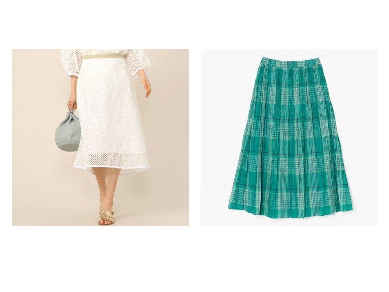 【NOLLEY'S/ノーリーズ】のスクエア刺繍Aラインスカート&【LE GLAZIK/ル グラジック】のプリーツマキシスカート 【スカート】おすすめ!人気、トレンド・レディースファッションの通販   おすすめで人気の流行・トレンド、ファッションの通販商品 メンズファッション・キッズファッション・インテリア・家具・レディースファッション・服の通販 founy(ファニー) https://founy.com/ ファッション Fashion レディースファッション WOMEN スカート Skirt Aライン/フレアスカート Flared A-Line Skirts エレガント スクエア セットアップ マキシ ロング ヴィンテージ |ID:crp329100000026869