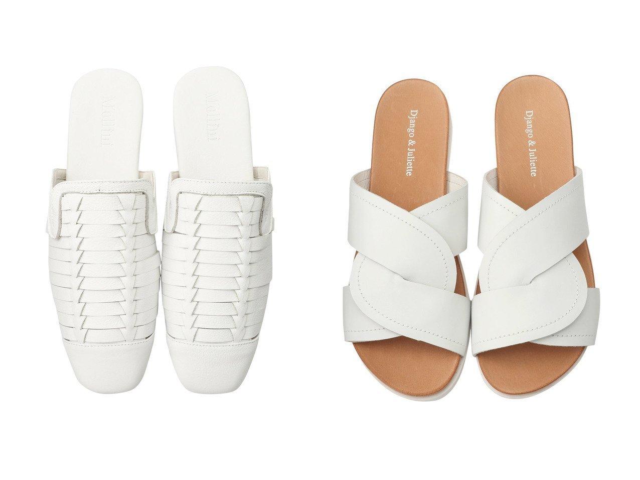 【JET/ジェット】の【Mollini】レザーフラットサンダル&【Django&Juliette】レザーサンダル 【シューズ・靴】おすすめ!人気、トレンド・レディースファッションの通販   おすすめで人気の流行・トレンド、ファッションの通販商品 メンズファッション・キッズファッション・インテリア・家具・レディースファッション・服の通販 founy(ファニー) https://founy.com/ ファッション Fashion レディースファッション WOMEN サンダル シンプル フラット メッシュ |ID:crp329100000026875