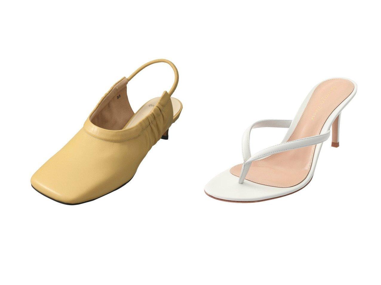 【ESSEN LAUTREAMONT/エッセン ロートレアモン】のスクエアトゥパンプス&【GIANVITO ROSSI/ジャンビト ロッシ】のCALYPSO トングサンダル 【シューズ・靴】おすすめ!人気、トレンド・レディースファッションの通販   おすすめで人気の流行・トレンド、ファッションの通販商品 メンズファッション・キッズファッション・インテリア・家具・レディースファッション・服の通販 founy(ファニー) https://founy.com/ ファッション Fashion レディースファッション WOMEN 2021年 2021 2021春夏・S/S SS/Spring/Summer/2021 S/S・春夏 SS・Spring/Summer インソール クッション サンダル シンプル 春 Spring |ID:crp329100000026876