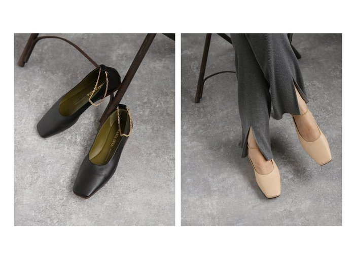 【NOBLE / Spick & Span/ノーブル / スピック&スパン】の【MARIA LUCA】 アンクルチェーンフラットシューズ 【シューズ・靴】おすすめ!人気、トレンド・レディースファッションの通販   おすすめファッション通販アイテム インテリア・キッズ・メンズ・レディースファッション・服の通販 founy(ファニー) https://founy.com/ ファッション Fashion レディースファッション WOMEN 2020年 2020 2020-2021秋冬・A/W AW・Autumn/Winter・FW・Fall-Winter/2020-2021 A/W・秋冬 AW・Autumn/Winter・FW・Fall-Winter アンクル イタリア エレガント コレクション シューズ タイツ チェーン フラット ボトム ラグジュアリー  ID:crp329100000026883