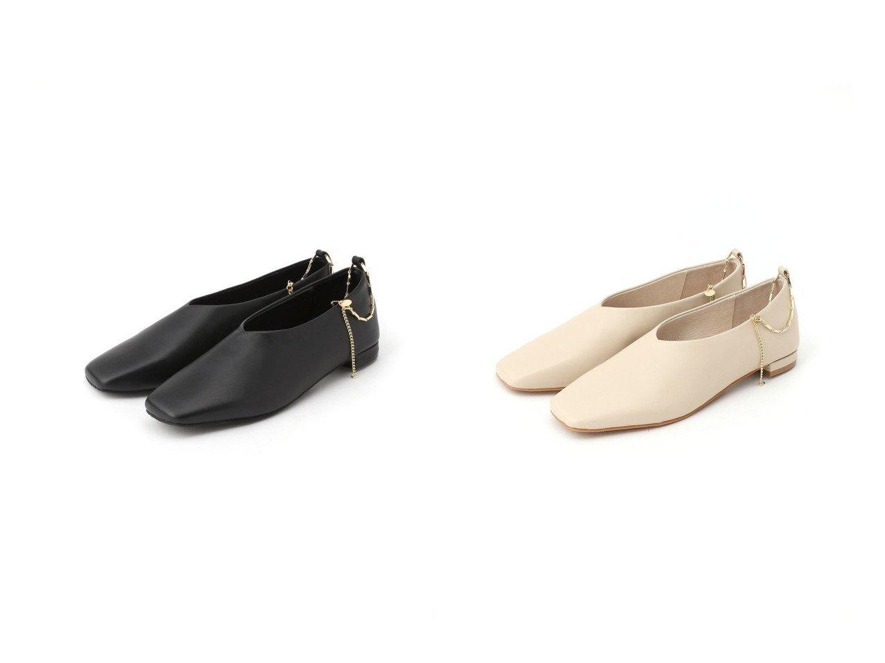 【BARNYARDSTORM/バンヤードストーム】のアンクレット付きスクエアフラット 【シューズ・靴】おすすめ!人気、トレンド・レディースファッションの通販   | レディースファッション・服の通販 founy(ファニー)