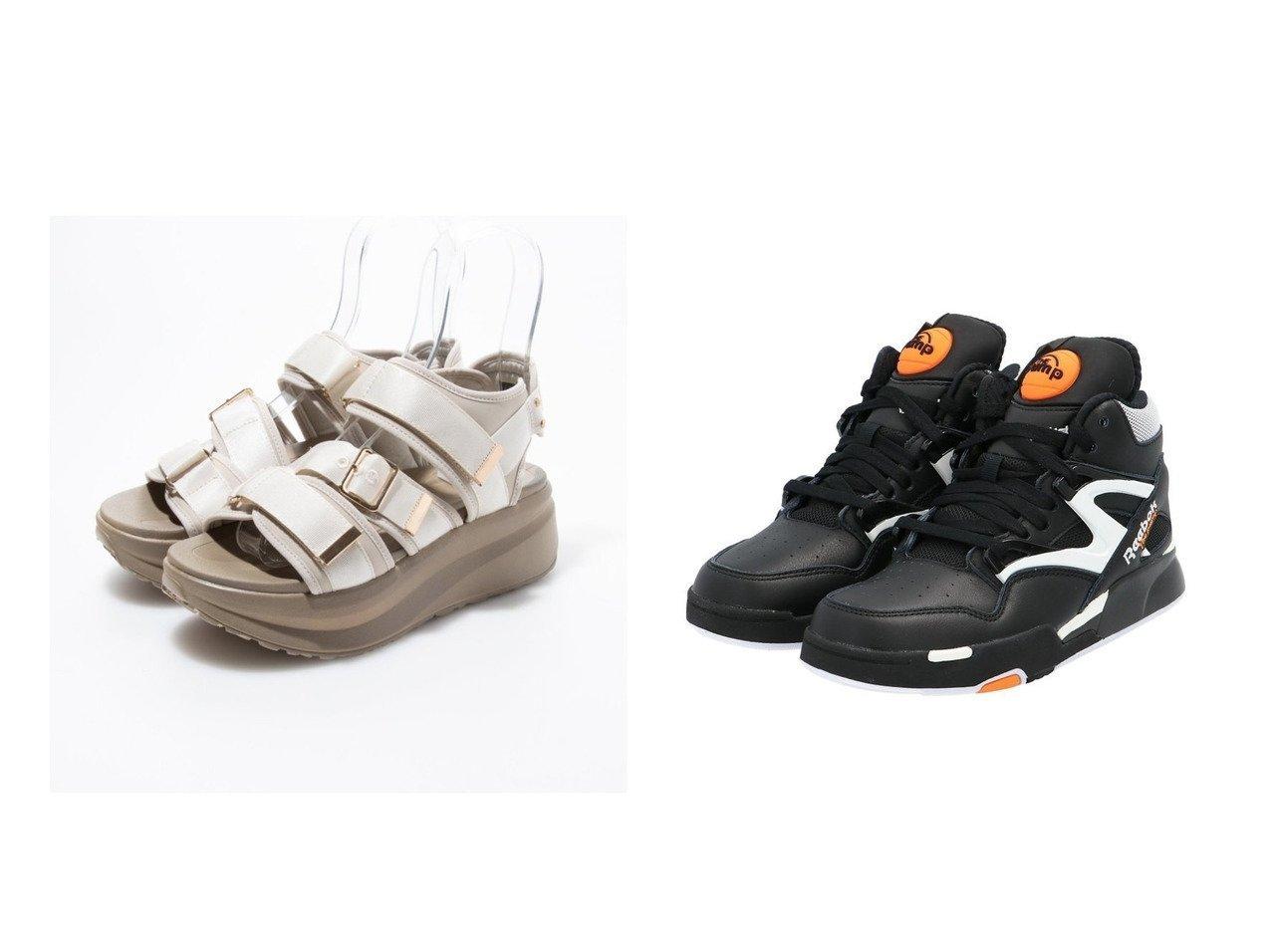 【EVOL/イーボル】のベルトサンダル&【Reebok CLASSIC/リーボック】のポンプ オムニ ゾーン II Pump Omni Zone II Shoes リーボック 【シューズ・靴】おすすめ!人気、トレンド・レディースファッションの通販   | レディースファッション・服の通販 founy(ファニー)