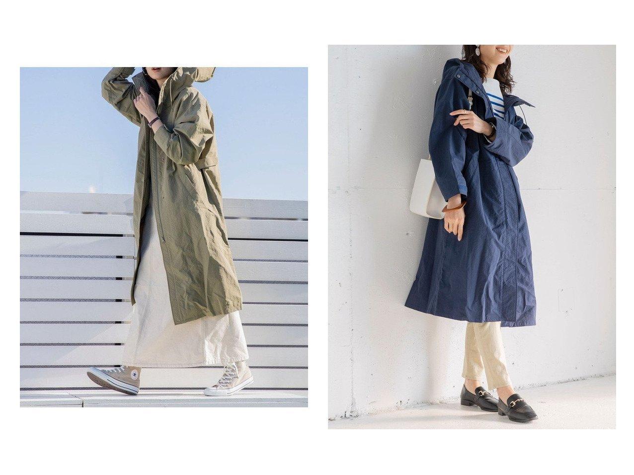 【COEN/コーエン】のSIERRATEX(シエラテックス)ロングシェル撥水スプリングコート#(フード付きコート/フーディ/フーデット/モッズコート/春アウター) 【アウター】おすすめ!人気、トレンド・レディースファッションの通販 | レディースファッション・服の通販 founy(ファニー)