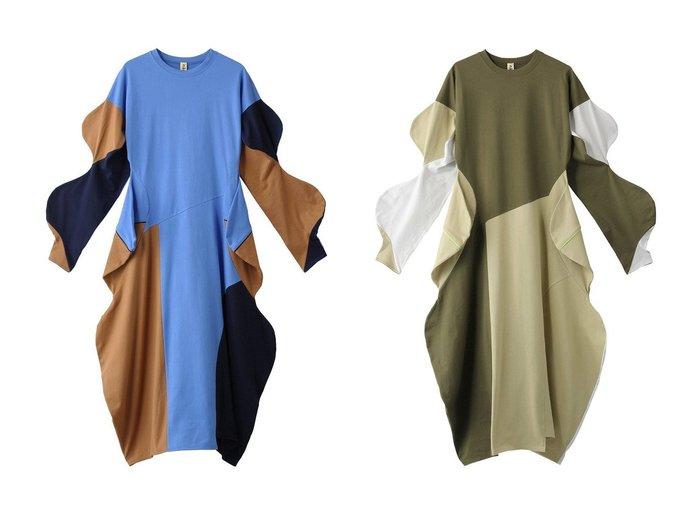 【nagonstans/ナゴンスタンス】のCO天竺 BUMP ドレス 【ワンピース・ドレス】おすすめ!人気、トレンド・レディースファッションの通販 おすすめファッション通販アイテム レディースファッション・服の通販 founy(ファニー) ファッション Fashion レディースファッション WOMEN ワンピース Dress ドレス Party Dresses 2021年 2021 2021春夏・S/S SS/Spring/Summer/2021 S/S・春夏 SS・Spring/Summer アシンメトリー ウェーブ ドレス ドレープ パーティ ロング 再入荷 Restock/Back in Stock/Re Arrival 春 Spring  ID:crp329100000026949