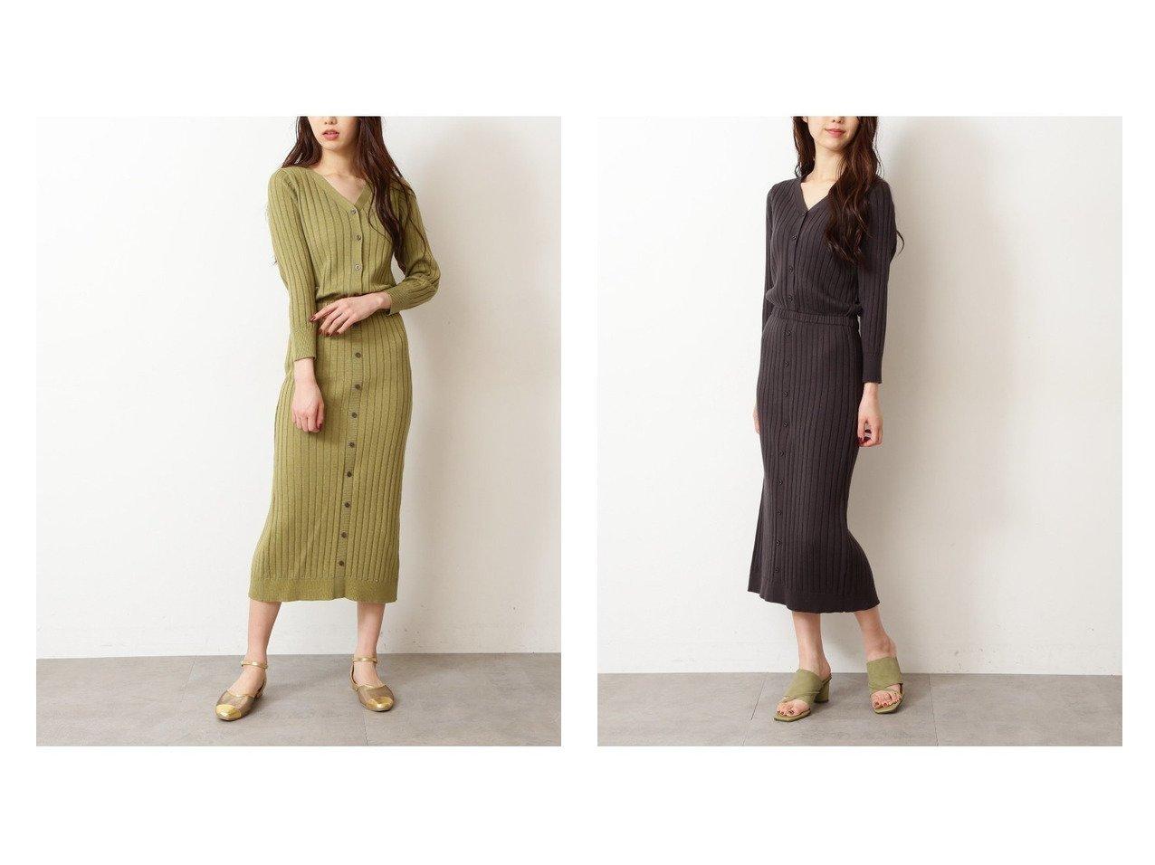 【FREE'S MART/フリーズマート】のフロントボタンリブニットワンピース 【ワンピース・ドレス】おすすめ!人気、トレンド・レディースファッションの通販 | レディースファッション・服の通販 founy(ファニー)