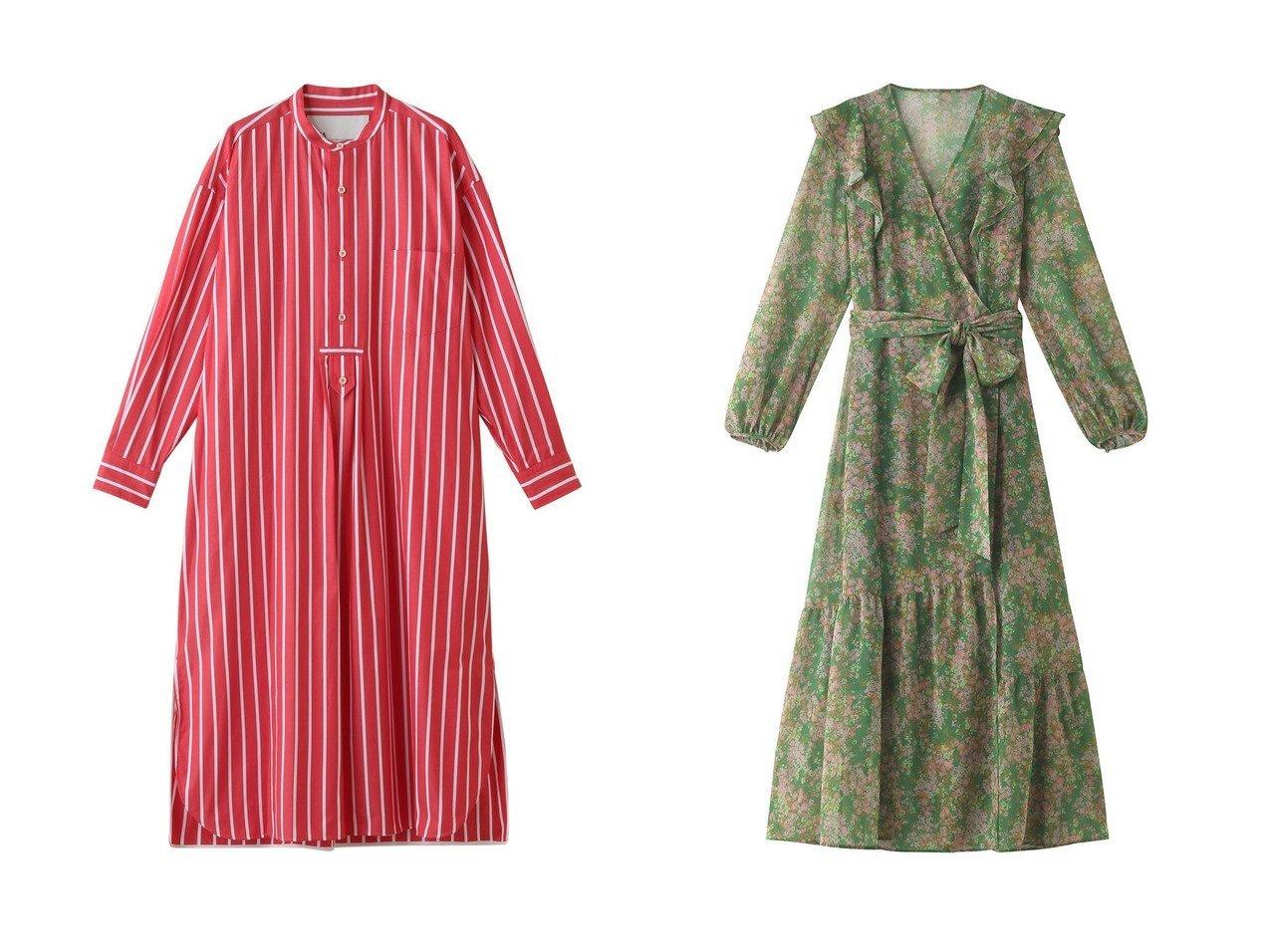 【allureville/アルアバイル】の【TICCA】ストライプワンピース&【Loulou Willoughby】ランダムフラワーカシュワンピース 【ワンピース・ドレス】おすすめ!人気、トレンド・レディースファッションの通販  おすすめで人気の流行・トレンド、ファッションの通販商品 メンズファッション・キッズファッション・インテリア・家具・レディースファッション・服の通販 founy(ファニー) https://founy.com/ ファッション Fashion レディースファッション WOMEN ワンピース Dress 2021年 2021 2021春夏・S/S SS/Spring/Summer/2021 S/S・春夏 SS・Spring/Summer エレガント シアー スリーブ フラワー プリント ヘムライン ランダム 春 Spring |ID:crp329100000027085
