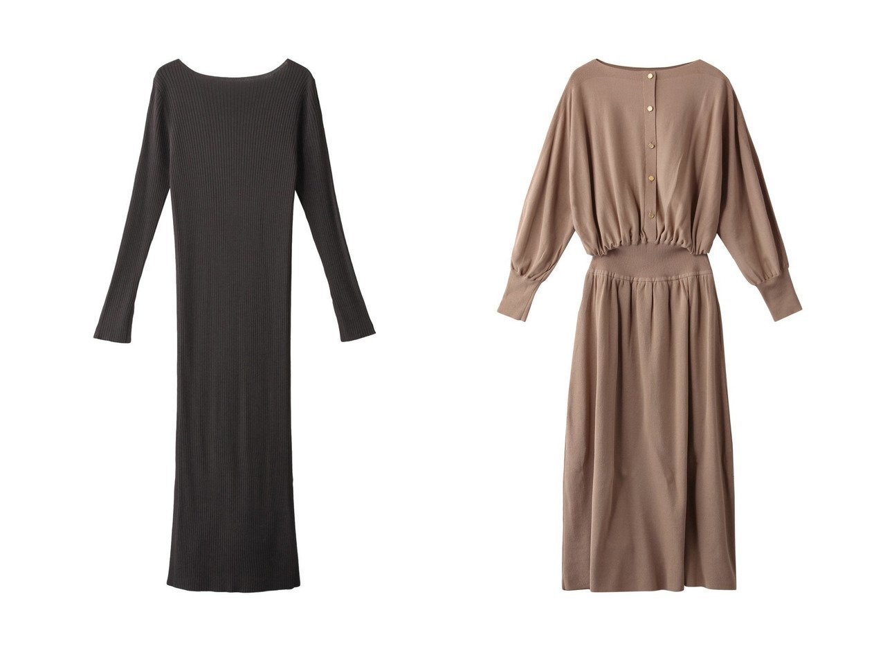 【Chaos/カオス】のCRシルクコンリブニットワンピース&【martinique/マルティニーク】のリブ切替ニットワンピース 【ワンピース・ドレス】おすすめ!人気、トレンド・レディースファッションの通販  おすすめで人気の流行・トレンド、ファッションの通販商品 メンズファッション・キッズファッション・インテリア・家具・レディースファッション・服の通販 founy(ファニー) https://founy.com/ ファッション Fashion レディースファッション WOMEN ワンピース Dress ニットワンピース Knit Dresses 2021年 2021 2021春夏・S/S SS/Spring/Summer/2021 S/S・春夏 SS・Spring/Summer シンプル スリット フィット 春 Spring |ID:crp329100000027086