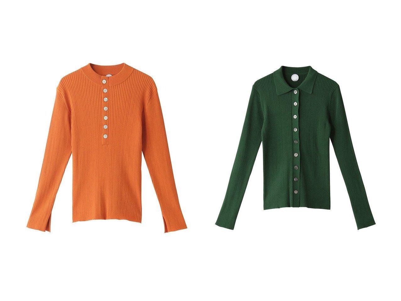 【JAMAIS VU/ジャメヴ】のアイスコットン ビルトネック ヘンリーネックプルオーバー&アイスコットン ポロカーディガン 【トップス・カットソー】おすすめ!人気、トレンド・レディースファッションの通販  おすすめで人気の流行・トレンド、ファッションの通販商品 メンズファッション・キッズファッション・インテリア・家具・レディースファッション・服の通販 founy(ファニー) https://founy.com/ ファッション Fashion レディースファッション WOMEN トップス・カットソー Tops/Tshirt ニット Knit Tops プルオーバー Pullover カーディガン Cardigans 2021年 2021 2021春夏・S/S SS/Spring/Summer/2021 S/S・春夏 SS・Spring/Summer フィット フロント 春 Spring |ID:crp329100000027095