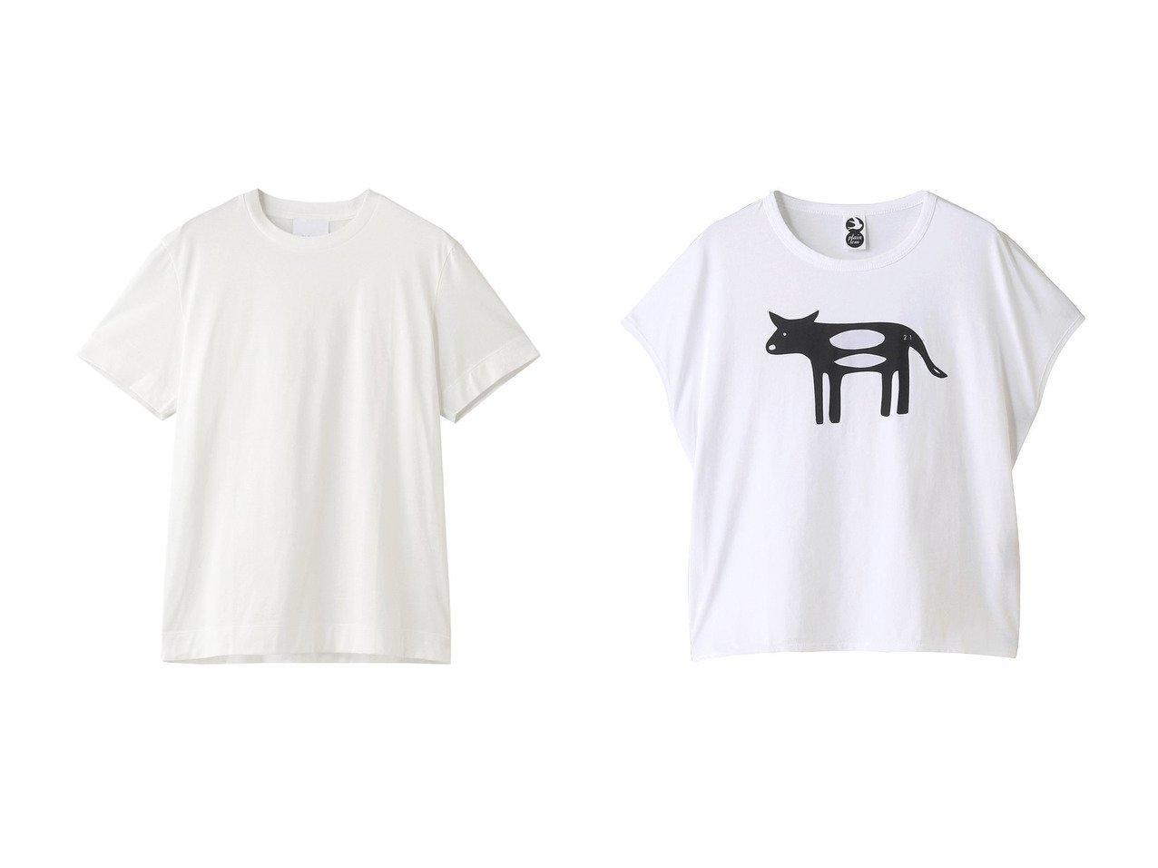 【allureville/アルアバイル】の【SLOANE】Tシャツ&【PLAIN PEOPLE/プレインピープル】の【plainless】プリントノースリーブTシャツ 【トップス・カットソー】おすすめ!人気、トレンド・レディースファッションの通販  おすすめで人気の流行・トレンド、ファッションの通販商品 メンズファッション・キッズファッション・インテリア・家具・レディースファッション・服の通販 founy(ファニー) https://founy.com/ ファッション Fashion レディースファッション WOMEN トップス・カットソー Tops/Tshirt シャツ/ブラウス Shirts/Blouses ロング / Tシャツ T-Shirts カットソー Cut and Sewn キャミソール / ノースリーブ No Sleeves 2021年 2021 2021春夏・S/S SS/Spring/Summer/2021 S/S・春夏 SS・Spring/Summer ショート シンプル スリーブ 半袖 春 Spring |ID:crp329100000027109