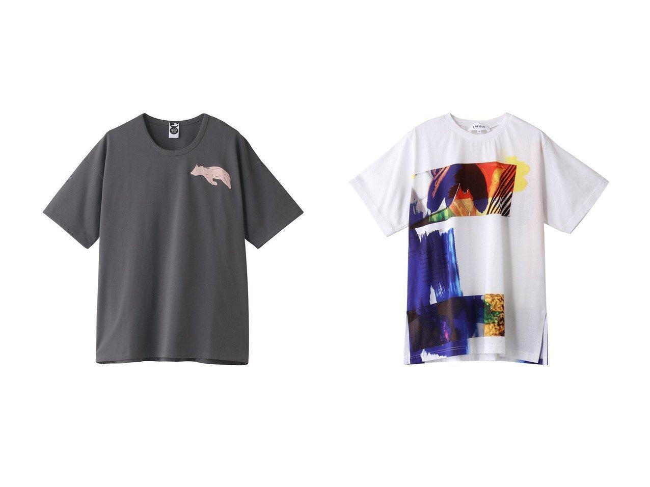【PLAIN PEOPLE/プレインピープル】の【plainless】プリントTシャツ&【ENFOLD/エンフォルド】のBlooming Collage BIG Tシャツ 【トップス・カットソー】おすすめ!人気、トレンド・レディースファッションの通販  おすすめで人気の流行・トレンド、ファッションの通販商品 メンズファッション・キッズファッション・インテリア・家具・レディースファッション・服の通販 founy(ファニー) https://founy.com/ ファッション Fashion レディースファッション WOMEN トップス・カットソー Tops/Tshirt シャツ/ブラウス Shirts/Blouses ロング / Tシャツ T-Shirts カットソー Cut and Sewn 2021年 2021 2021春夏・S/S SS/Spring/Summer/2021 S/S・春夏 SS・Spring/Summer ショート シンプル スリーブ フロント プリント 半袖 春 Spring |ID:crp329100000027110