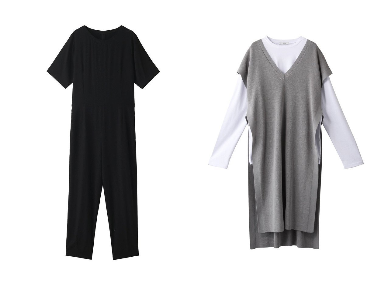 【Ezick/エジック】のロンTツキレイヤードベスト&【THIRD MAGAZINE/サードマガジン】のウォッシャブルシルクデシンオールインワン おすすめ!人気、トレンド・レディースファッションの通販 おすすめで人気の流行・トレンド、ファッションの通販商品 メンズファッション・キッズファッション・インテリア・家具・レディースファッション・服の通販 founy(ファニー) https://founy.com/ ファッション Fashion レディースファッション WOMEN パンツ Pants アウター Coat Outerwear ジャケット Jackets 2021年 2021 2021春夏・S/S SS/Spring/Summer/2021 S/S・春夏 SS・Spring/Summer とろみ シルク シンプル リラックス 春 Spring ジャケット ベスト ロング 長袖  ID:crp329100000027168