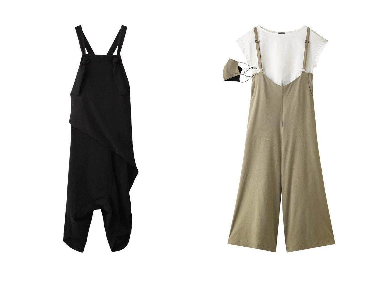 【WRINN/リン】の【限定】フレアパンツサロペット・Tシャツ・マスク3点セット&【ENFOLD/エンフォルド】のダブルサテン サルエルサロペット おすすめ!人気、トレンド・レディースファッションの通販 おすすめで人気の流行・トレンド、ファッションの通販商品 メンズファッション・キッズファッション・インテリア・家具・レディースファッション・服の通販 founy(ファニー) https://founy.com/ ファッション Fashion レディースファッション WOMEN 2021年 2021 2021春夏・S/S SS/Spring/Summer/2021 S/S・春夏 SS・Spring/Summer アシンメトリー サテン ダブル ドレープ ラップ 春 Spring インド サロペット シルク パウダー フェイクレザー フェミニン フレア 半袖 リバーシブル  ID:crp329100000027169