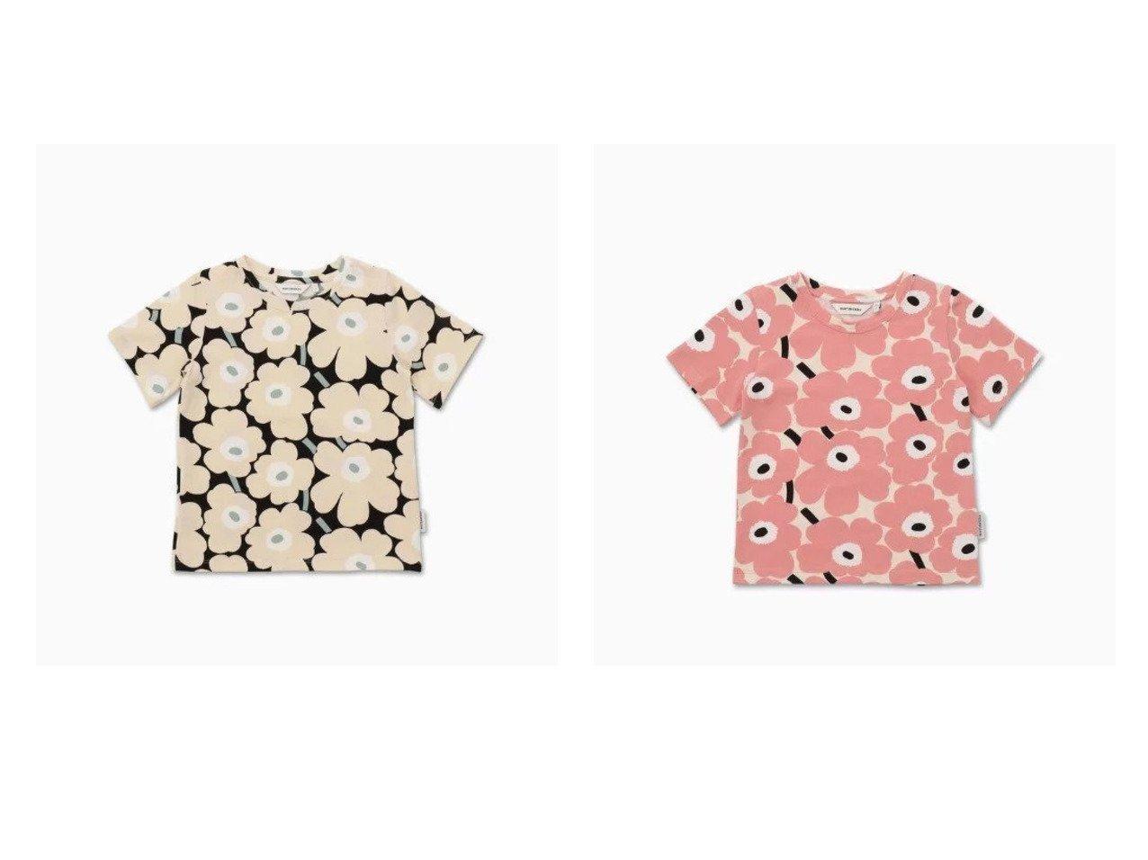 【marimekko / KIDS/マリメッコ】の[Kids]Soida Mini Unikot 2 Tシャツ&[Kids]Soida Mini Unikot 1 Tシャツ 【KIDS】子供服のおすすめ!人気トレンド・キッズファッションの通販  おすすめで人気の流行・トレンド、ファッションの通販商品 メンズファッション・キッズファッション・インテリア・家具・レディースファッション・服の通販 founy(ファニー) https://founy.com/ ファッション Fashion キッズファッション KIDS トップス・カットソー Tops/Tees/Kids インナー シンプル ジャージー ストレッチ 半袖  ID:crp329100000027200
