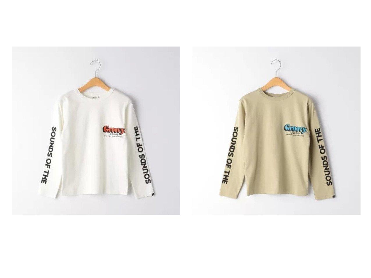 【green label relaxing / UNITED ARROWS / KIDS/グリーンレーベルリラクシング】の【ジュニア】 GROOVY COLORS(グルービーカラーズ)ロゴプリントT 【KIDS】子供服のおすすめ!人気トレンド・キッズファッションの通販  おすすめで人気の流行・トレンド、ファッションの通販商品 メンズファッション・キッズファッション・インテリア・家具・レディースファッション・服の通販 founy(ファニー) https://founy.com/ ファッション Fashion キッズファッション KIDS トップス・カットソー Tops/Tees/Kids プリント  ID:crp329100000027201