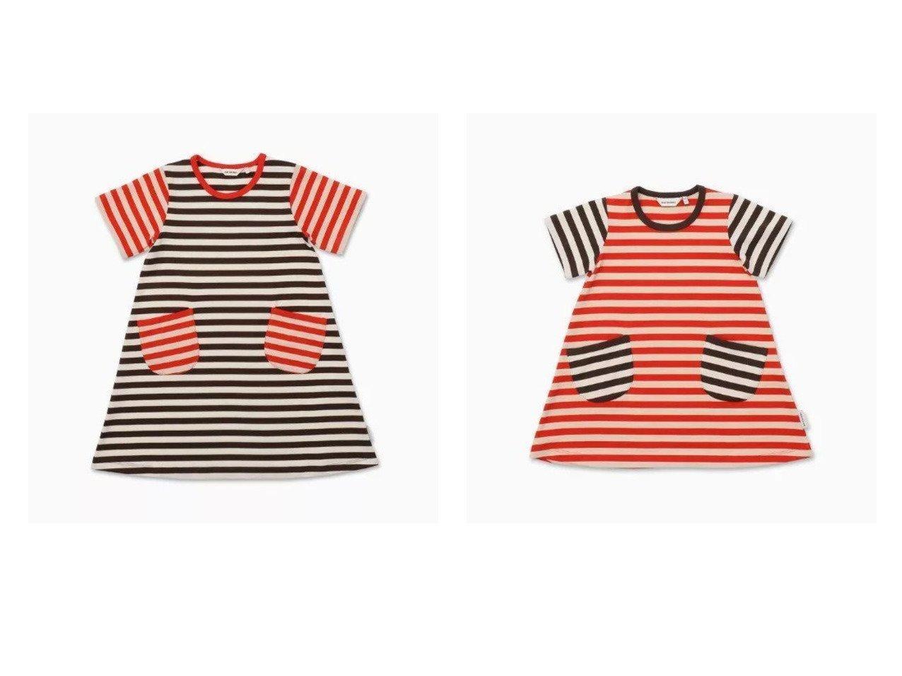 【marimekko / KIDS/マリメッコ】の[Kids]Ahde Tasaraita 2 ワンピース&[Kids]Ahde Tasaraita 1 ワンピース 【KIDS】子供服のおすすめ!人気トレンド・キッズファッションの通販  おすすめで人気の流行・トレンド、ファッションの通販商品 メンズファッション・キッズファッション・インテリア・家具・レディースファッション・服の通販 founy(ファニー) https://founy.com/ ファッション Fashion キッズファッション KIDS ワンピース Dress/Kids おすすめ Recommend ジャージー パターン パッチ ボーダー ポケット レギンス  ID:crp329100000027202
