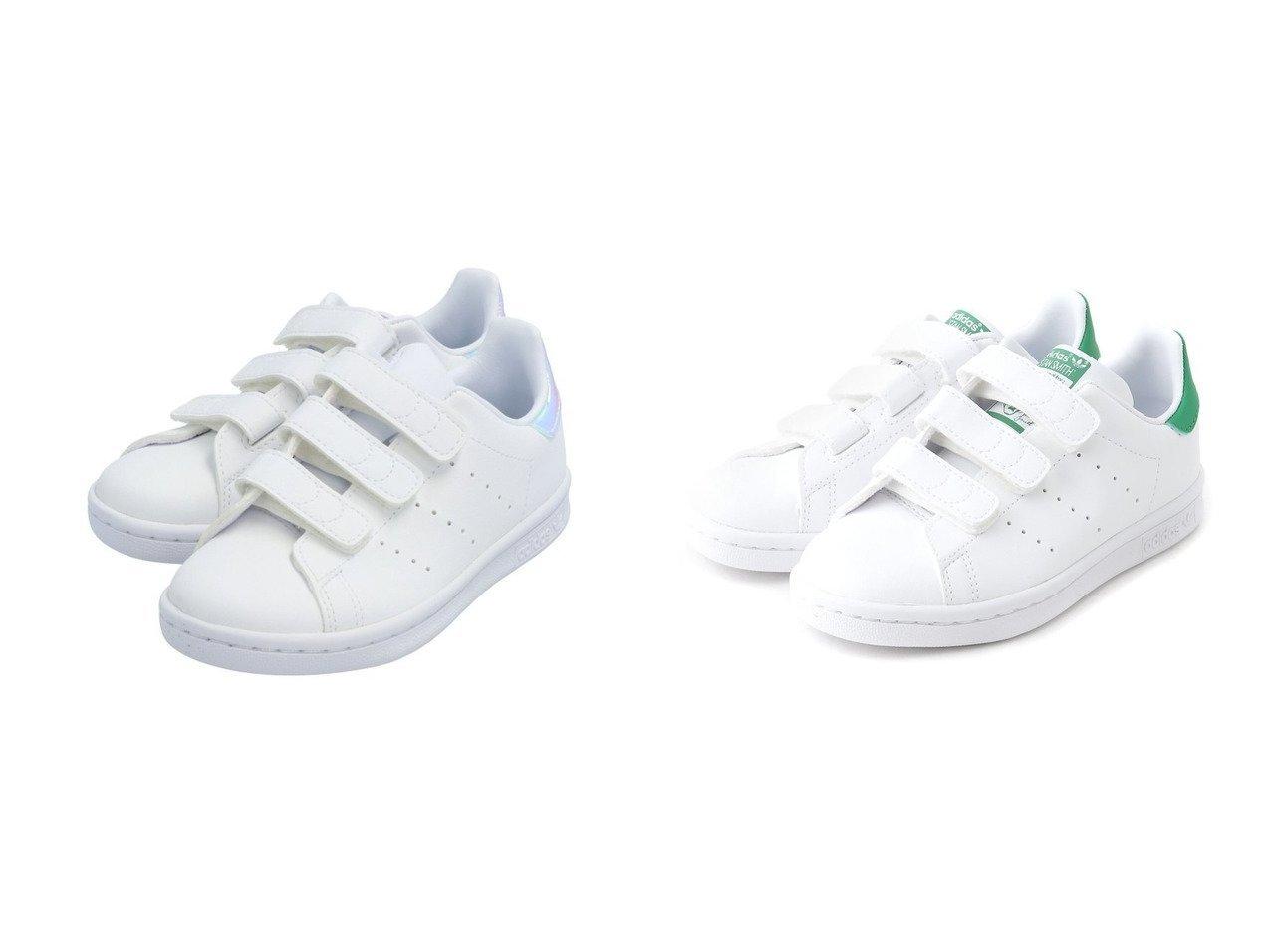 【adidas Originals / KIDS/アディダス オリジナルス】のSTAN SMITH CF C 【KIDS】子供服のおすすめ!人気トレンド・キッズファッションの通販  おすすめで人気の流行・トレンド、ファッションの通販商品 メンズファッション・キッズファッション・インテリア・家具・レディースファッション・服の通販 founy(ファニー) https://founy.com/ ファッション Fashion キッズファッション KIDS シューズ シンプル フィット ラップ レギュラー  ID:crp329100000027208