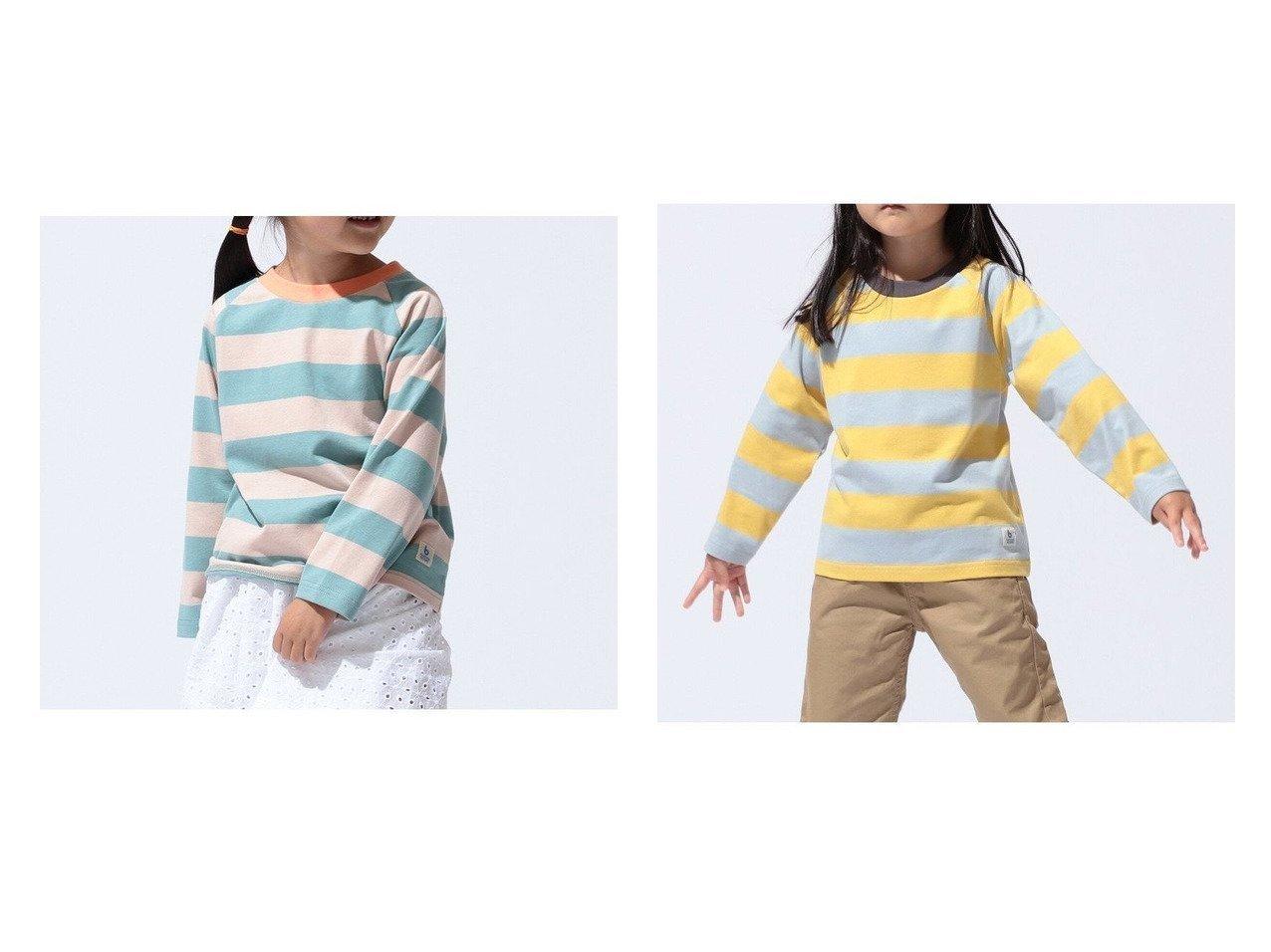 【コドモ ビームス / KIDS/こども ビームス】のこども ビームス ボーダー ラグラン Tシャツ(80~120cm) 【KIDS】子供服のおすすめ!人気トレンド・キッズファッションの通販  おすすめで人気の流行・トレンド、ファッションの通販商品 メンズファッション・キッズファッション・インテリア・家具・レディースファッション・服の通販 founy(ファニー) https://founy.com/ ファッション Fashion キッズファッション KIDS トップス・カットソー Tops/Tees/Kids カットソー サロペット シューズ スタイリッシュ デニム 長袖 フェミニン ボーダー ミニスカート  ID:crp329100000027210