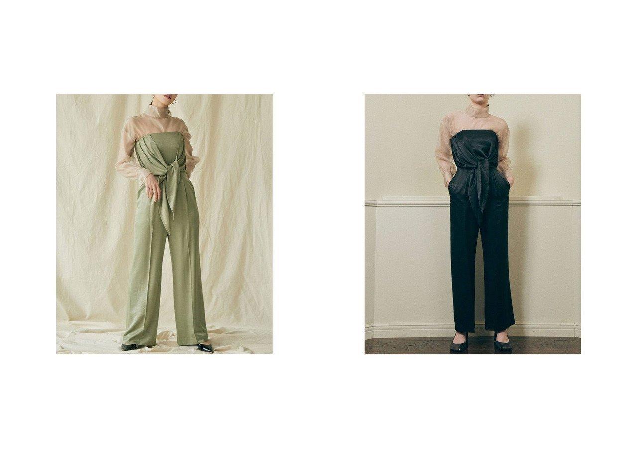 【Laguna Moon/ラグナムーン】のLAGUNAMOON LADYウエストタイベアパンツドレス 【SPRiNG/スプリング】ファッション雑誌掲載!おすすめ人気トレンド・レディースファッション通販  おすすめで人気の流行・トレンド、ファッションの通販商品 メンズファッション・キッズファッション・インテリア・家具・レディースファッション・服の通販 founy(ファニー) https://founy.com/ 雑誌掲載アイテム Magazine Items ファッション雑誌 Fashion Magazines スプリング SPRiNG ファッション Fashion レディースファッション WOMEN パンツ Pants 2021年 2021 2021春夏・S/S SS/Spring/Summer/2021 S/S・春夏 SS・Spring/Summer おすすめ Recommend シアー ドレス フォーマル フロント 春 Spring 雑誌 |ID:crp329100000027243