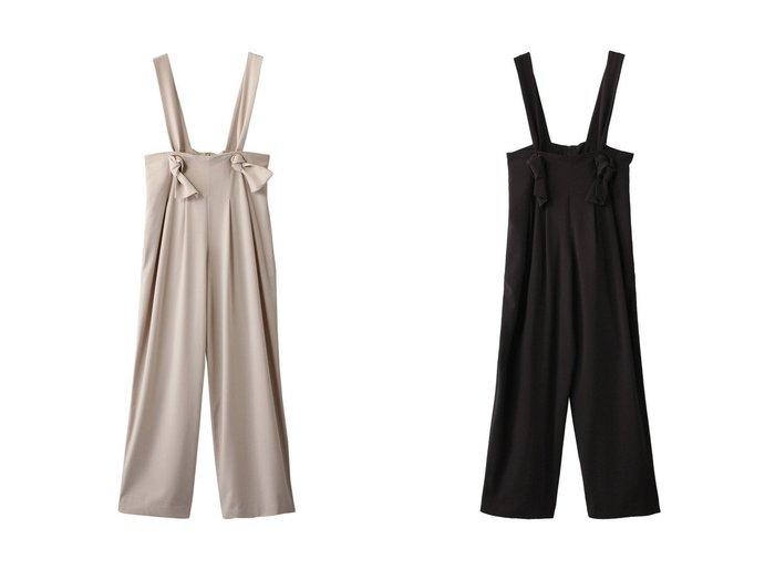 【LANVIN en Bleu/ランバン オン ブルー】のワイドサロペットパンツ 【パンツ】おすすめ!人気、トレンド・レディースファッションの通販  おすすめファッション通販アイテム インテリア・キッズ・メンズ・レディースファッション・服の通販 founy(ファニー) https://founy.com/ ファッション Fashion レディースファッション WOMEN 2021年 2021 2021春夏・S/S SS/Spring/Summer/2021 S/S・春夏 SS・Spring/Summer サスペンダー ワイド 春 Spring |ID:crp329100000027262